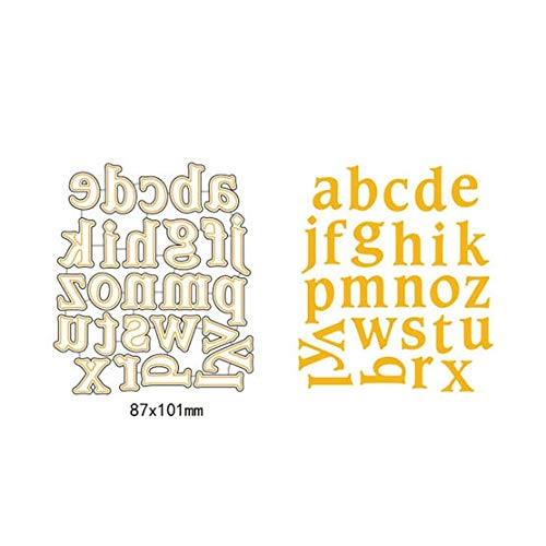 Letter Stencils A-Z Uppercase Alphabet Metal Cutting Dies Lowercase Letter Scrapbooking Cut Dies DIY Decor New Year Stencil Craft Card Template