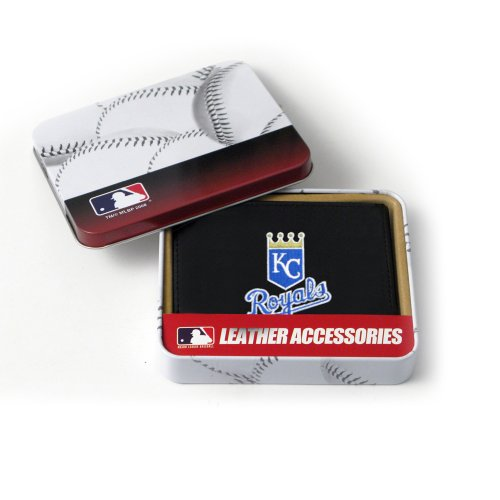 MLB Kansas City Royals Embroidered Genuine Cowhide Leather Trifold Wallet