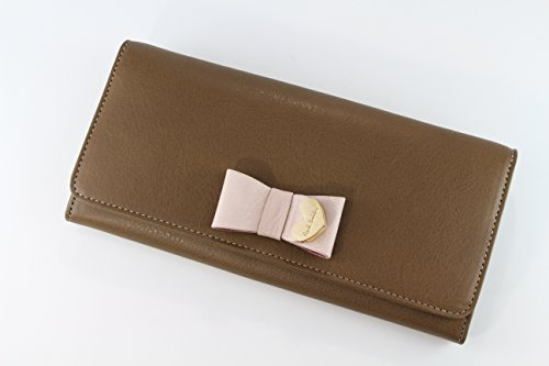 Paul Smith wallet men's ladies Paul Smith contrast Ribbon or obuse wallet Brown PWW784 cash on delivery fee