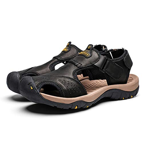 Summer Men's Sandals,Mens Fashion Leather Hiking Shoes Flats Slippers Beach Water Shoes Sport Sandals by Tronet Sandals (Image #5)