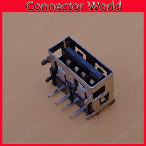 Color: 100PCS Gimax 5-100pcs//lot New Laptop USB connector//jack//sockect commonly used ultrashort black glue USB JACK female length = 10mm