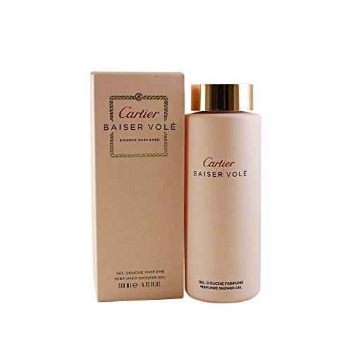 Cartier Baiser Vole Perfumed Shower Gel for Women 6.75 oz / 200 ml (Lilac Perfumed Talc)