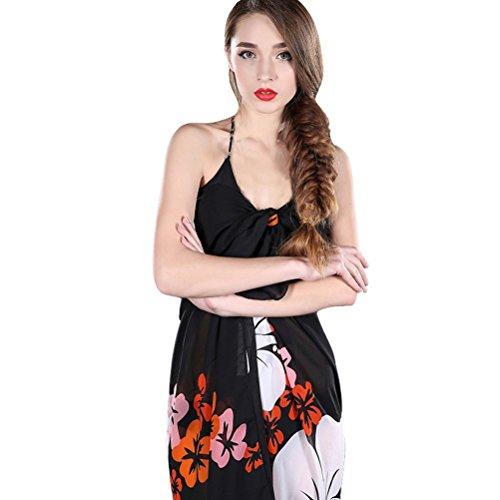 Vobaga Pareo Para Mujer Estampado Floral Bañador Túnica Playa Verano Beach Bikini Swimwear Cover-up Y75