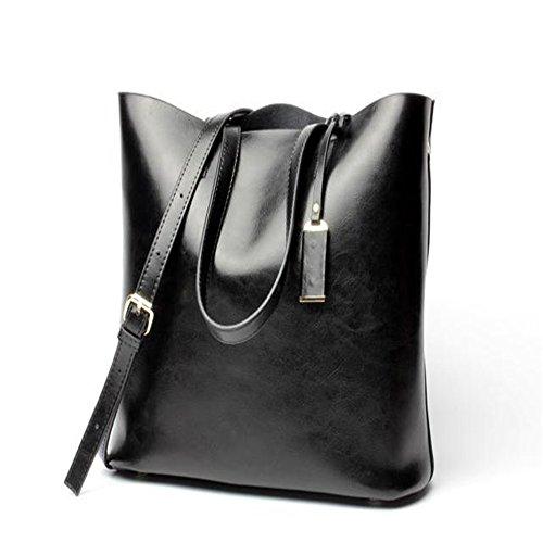 Xoxo Multifonctionnel Femme Sac à bandoulière Portable Sac fourre-tout simple Grande capacité (Couleur: Vert) Noir