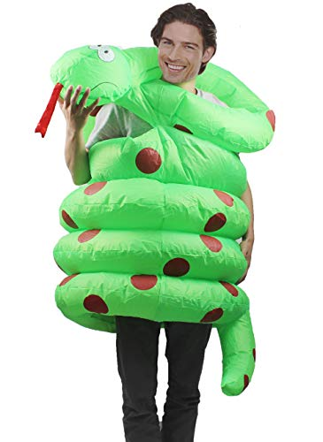 Seasonblow Inflatable Snake Costume Adult Fancy Halloween Party Birthday Cosplay Fancy Dress up Suit]()