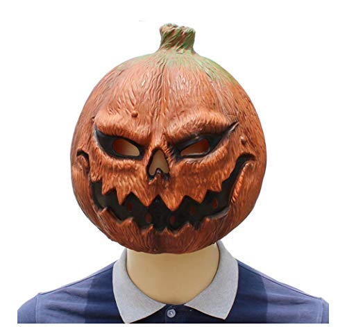 Latex Mask For Halloween, Funny Horror Mask, Pumpkin Mask, Prank Mask Face Scary Halloween Costume Party, Suitable For Men And Women -