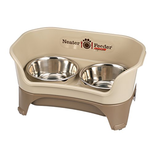 Am Express (Neater Feeder Express (Medium to Large Dog) - With Stainless Steel, Drip Proof, No Tip and Non Slip Dog Bowls and Mess Proof Pet Feeder)