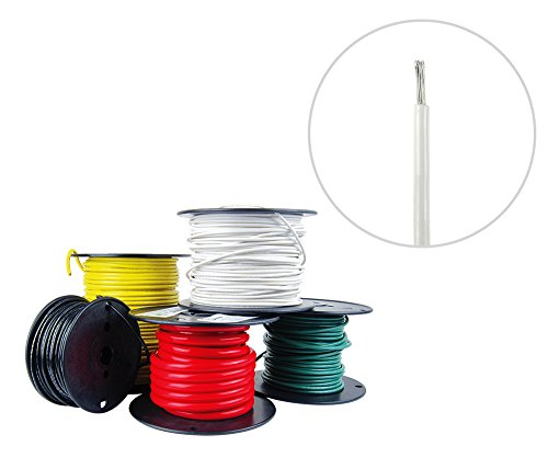 14 AWG Marine Wire -Tinned Copper Primary Boat Cable - 50 Feet - White - Made in the USA