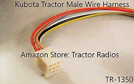 Kubota Tractor Radio Wire Harness Male RTV 9 Pin RTV-1100 on kubota radio harness, kubota tractor wiring diagrams, kubota alternator, kubota voltage regulator, kubota cylinder head, kubota fuel pump, kubota accessories,