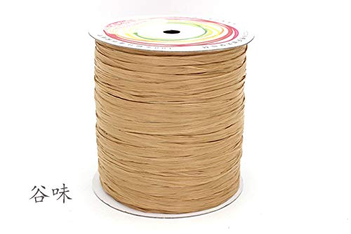 DalaB New Arrival 250M/Ball Cotton Straw Yarn for Handmade Handbag Hat Crochet Thread for DIY Handcraft Packing Sewing Supplies - (Color: ()