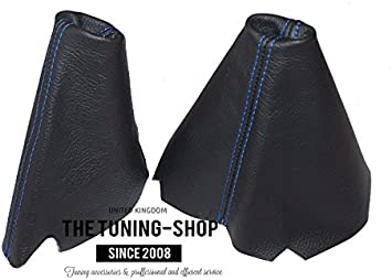 1995-1998 Or Series 2 1999-2004 The Tuning-Shop Ltd For Land Rover Discovery Series 1 Automatic Set Of 2 Gaiters Custom Made Boots Black Genuine Italian Leather White Stitching