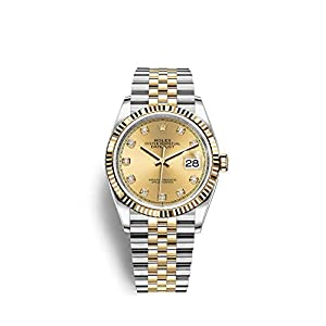 Best Epic Trends 419VocGBIcL._SS300_ Rolex Mens 2tone New Style Datejust Champagne Diamond Dial