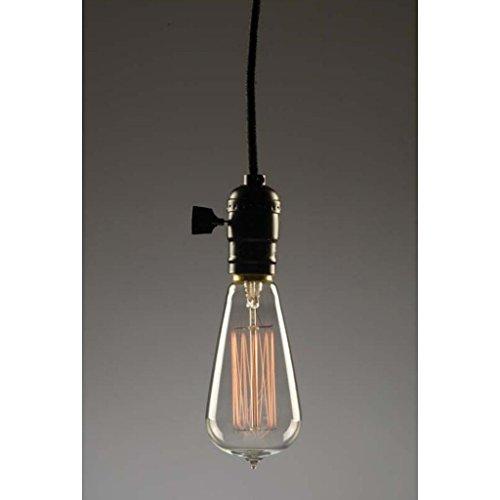 FerroWatt 00104-1 Light (Medium Screw Base) Matte Black Pendant Light Fixture (The Majestic Plus) ()