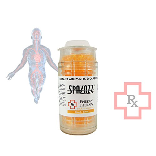 Spazazz SPZ-375 Energy Therapy Boost Instant Aromatic Escape Beads Jar, 1/2 oz