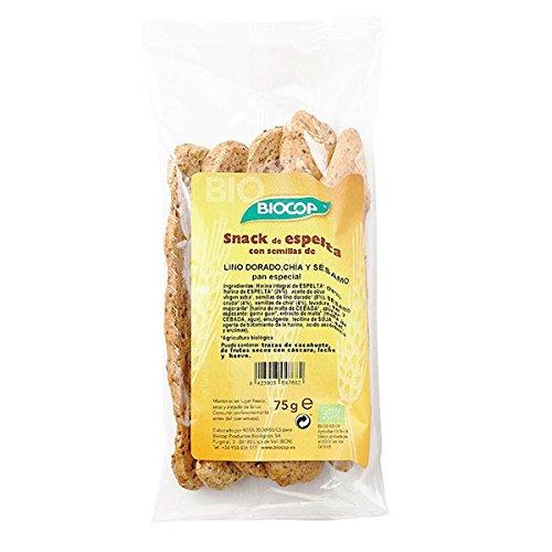 Biocop Snack Biocop Espelta con Lino Dorado, Chia y Sesamo - 75 gr