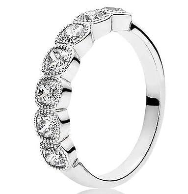 622173eeb Amazon.com: Pandora Alluring Cushion Ring, Clear CZ, 7 US, 191019CZ-54:  Jewelry