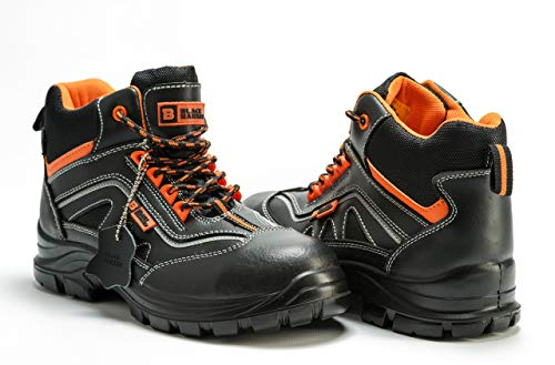63ee817b10c Black Hammer Mens Leather Safety Boots S3 SRC Composite Toe Cap ...