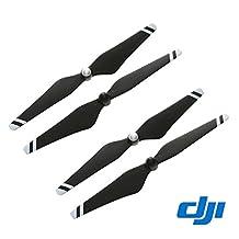 "DJI Original 9"" CW+CCW Props Carbon Fiber Reinforced 9450 Self-tightening Propeller 4 Pcs for Phantom 3 Professional / Advanced / Standard Quadcopter / E310 - Black + White Stripe"