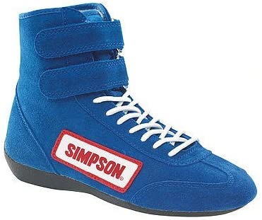 Simpson Racing Equipment 28115BL High Top Shoes 11.5 Blue