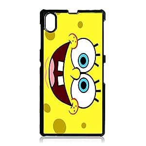 Fresh Kawaii SpongeBob Phone Case Cover for Sony Xperia Z1 SpongeBob Classical Cartoon