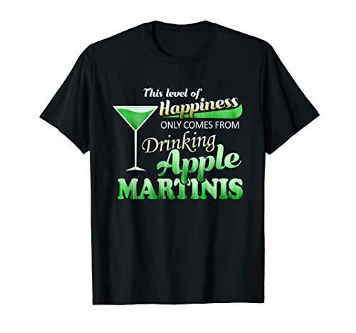 (APPLE MARTINIS OR APPLETINI IS GREEN VODKA BAR DRINK T-SHIRT)