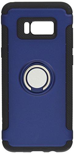 Galaxy S8+ 케이스 링&메탈 플레이트 부착TPU케이스【강화 유리 부착】3점 세트 SAMSUNG(삼성) 로얄 블루 3349-2-03