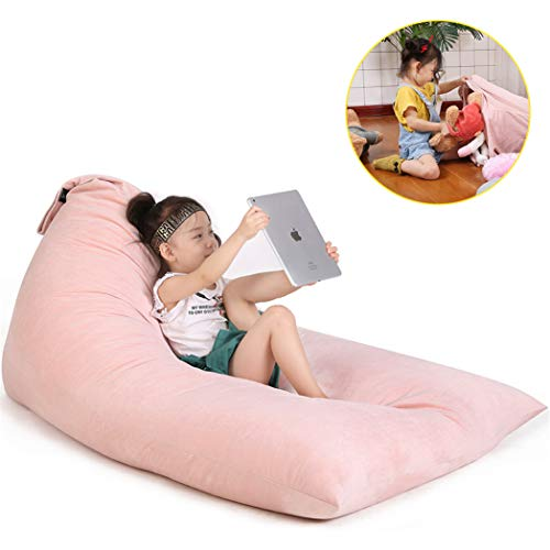 Stuffed Animal Bean Bag Chair for Kids and Adults. Luxury Velvet Stuffed Seat - Cover ONLY(Sweet Pink 200L/52 Gal) by Jorbest