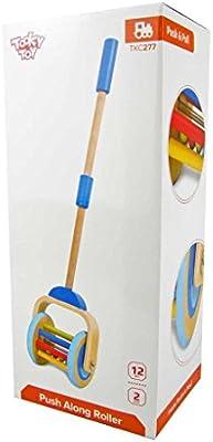 Tooky Toy - Rodillo Andador para Empujar Azul. Recomendado a Partir de 12 Meses