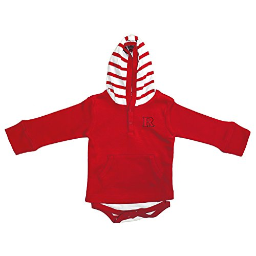 Pullover Sweatshirt Scarlet (Rutgers Scarlet Knights Newborn Infant Striped Hooded Creeper Sweatshirt Jacket (6 Months))