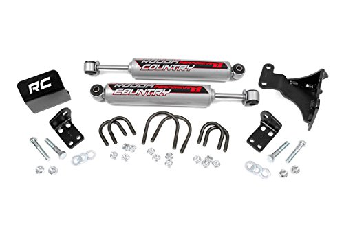 Rough Country - 87349 - Dual Steering Stabilizer for 2-6-inch Lifts w/ Performance 2.2 Shocks