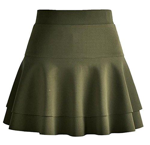 3 Warm Pleated UK Mini today Winter Layered Women's Stretchy Basic Skirt wOAOWqvTt