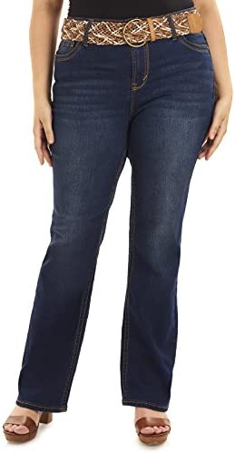 Wallflower Plus tamaño Belted legendario Bootcut Jeans