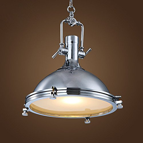 101 Indoor Nautical Style Lighting Ideas: Chrome Nautical Pendant Light On Chain
