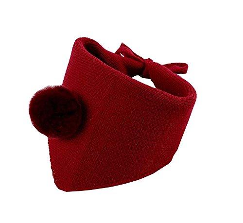 むしゃむしゃシェル電子レンジラブリー暖かい冬のスカーフキッズネックウォーマー - 赤