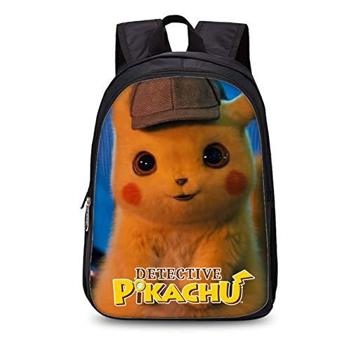 GD-fashion Kids Detective Pikachu Backpack-Boys Girls Back to School Bookbag-Backpacks for Travel,Outdoor