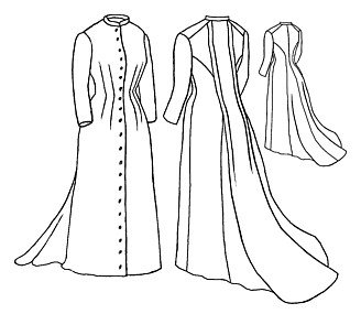 Victorian Costume Dresses & Skirts for Sale 1882 Tea gown Pattern                               $21.38 AT vintagedancer.com