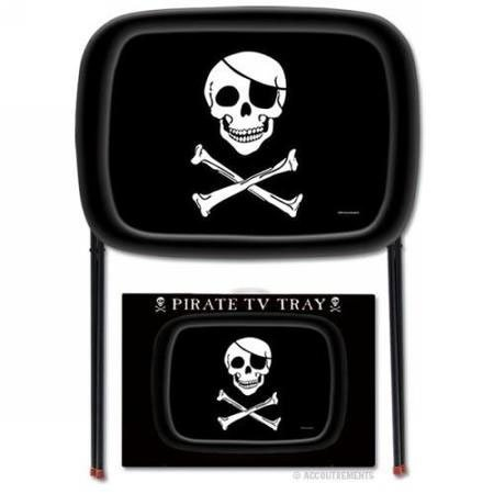 Set of 4 Pirate TV Trays - Foldable and Made of Durable Timplate by Accoutrements