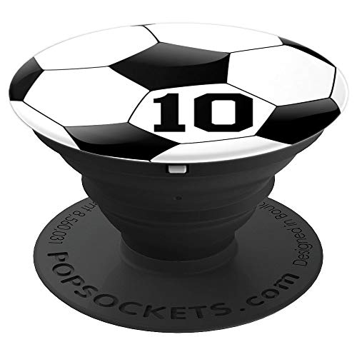 Soccer Number 10 Boys 10th Birthday Ball Player Zx - PopSockets Grip and Stand for Phones and Tablets