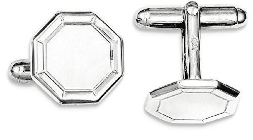 ICE CARATS 925 Sterling Silver Cuff Links Mens Cufflinks Man Link Fine Jewelry Dad Mens Gift Set by ICE CARATS