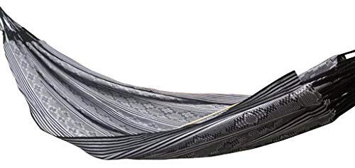 "Single, Ethical, True Colombian Hammock. TIPICA Negra - ETHICAL, STRONG, COMFORTABLE, TRUE COLOMBIAN HAMMOCK Sizes: 54"" X 89"", Length overal: 136"", Hold: 300lbs 100% soft colourfast cotton, MORE suspension strings, exceptionally tear-proof edges - patio-furniture, patio, hammocks - 419VsevnhxL -"