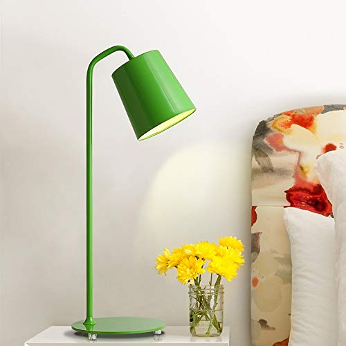 ZHANGBD Romantic Warm Desk Bedside Lamp Reading Lights Table Lamp Personality Creative Desk Lamp Nordic Desk Lamp for Bed, Kids, Study,Reading,Wedding [Energy Class A+] (Color : Green) by ZHANGBD (Image #1)