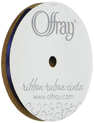 Offray Double Face Satin Craft Ribbon, 1-1/2-Inch Wide by 50-Yard Spool, Navy