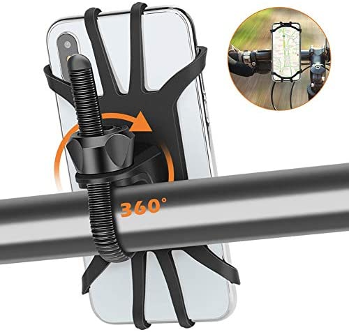 Bike Phone Holder Gobeigo 360° Rotatable Bicycle & Motorcycle Handlebar Cell Phone Mount CompatibleiPhone11 Pro Max Xs XR X 6S 7 8 Plus Galaxy S9 S10 Note 9 10 Most Phones in 4\u201d to 6.5\u201d