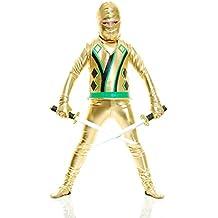 Charades Child Golden Ninja Series III Costume Jumpsuit, Gold, Small