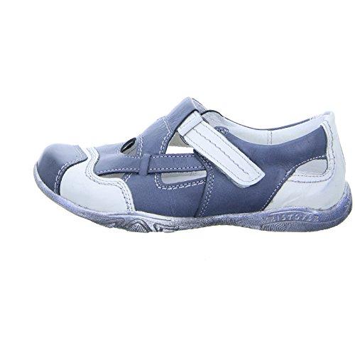 2034 Leder Kristofer Klettverschluss Sandale Blau Damen Weiß Weiß Fdxw7C