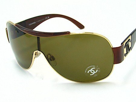 Amazon.com: New Chanel 4136 125/73 Brown Green Lens Gold ...
