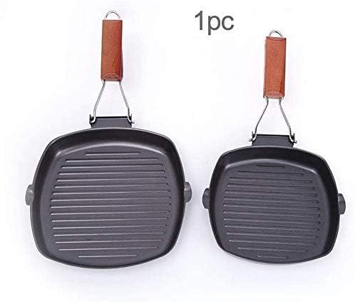 Poêle 20/24cm Pliable Poêle Fer Table Anti - Adhérent Barbecue Cuisine Fournitures Plaque Chauffante Poêlon Sy Propre Camping Pique-Nique (24cm) - Comme Image Spectacle, 24cm
