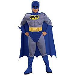 Rubie's Batman Deluxe Muscle Chest Batman Child's Costume, Small