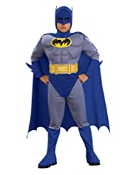 Deluxe Muscle Chest Batman Child's Costume, Small (size 4-6)