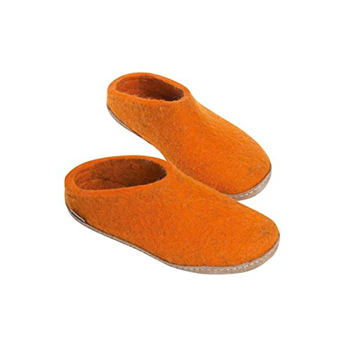 Glerups Model Boot Orange Wool Natural Unisex G Slipper rpqrwT